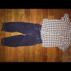 Carters Oshkosh button down jean 18 month